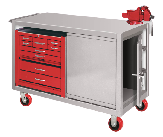Mobile Cabinet Workbenches with Toolbox