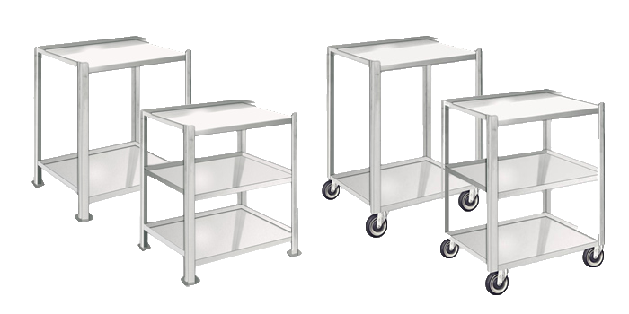 Stainless Stock Carts & Tables
